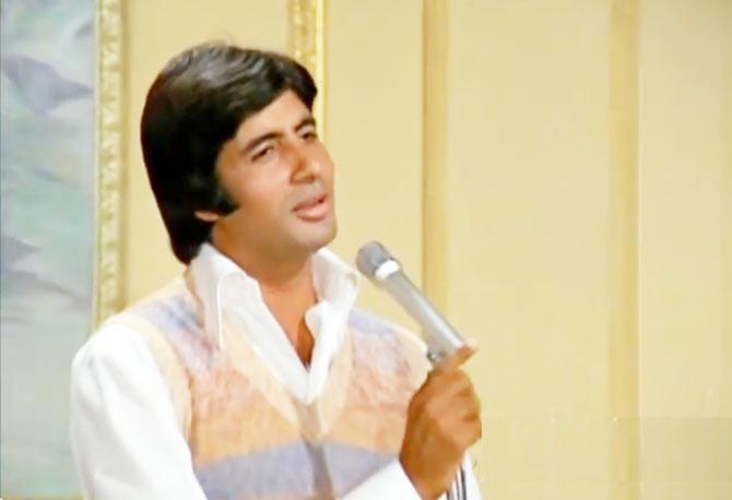 Amitabh Bachchan in Kabhi Kabhie