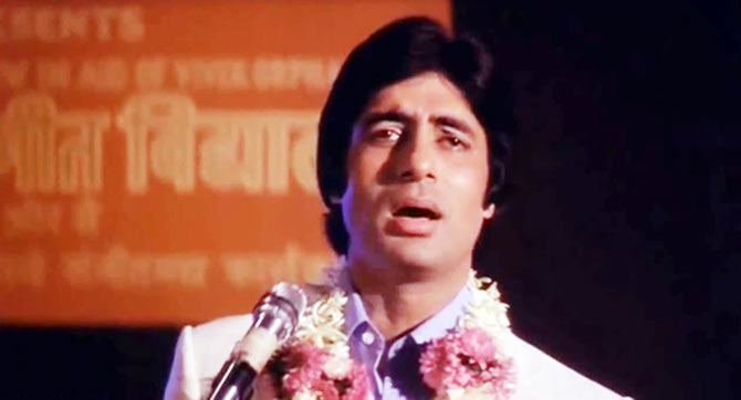 Amitabh Bachchan in Muqaddar Ka Sikander