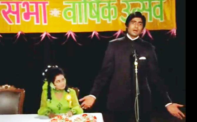 Amitabh Bachchan in Bandhe Haath