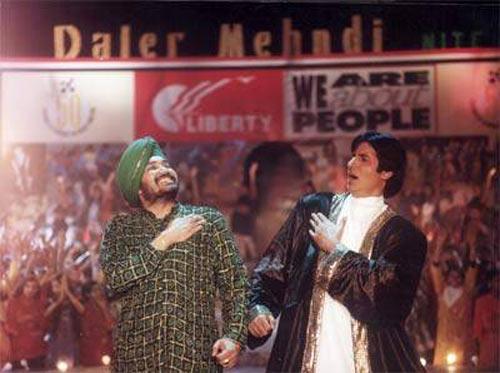 Daler Mehndi and Amitabh Bachchan in Mrityudaata