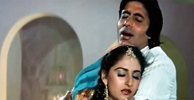 Jaya Prada and Amitabh Bachchan in Sharaabi