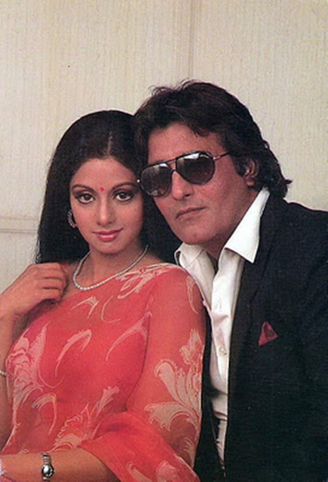 Sridevi and Vinod Khanna in Chandni