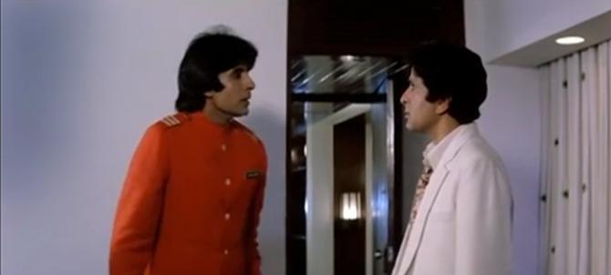 Shashi Kapoor with Amitabh Bachchan in Namak Halal