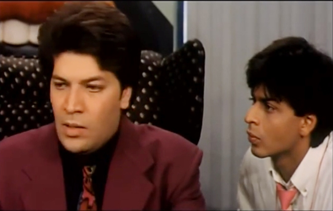 Aditya Pancholi and Shah Rukh Khan in Yes Boss