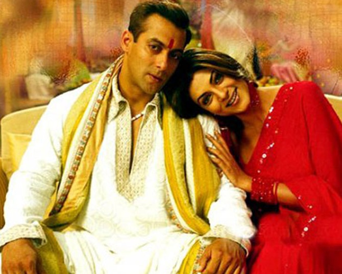 Salman Khan and Sushmita Sen in Maine Pyaar Kyun Kiya