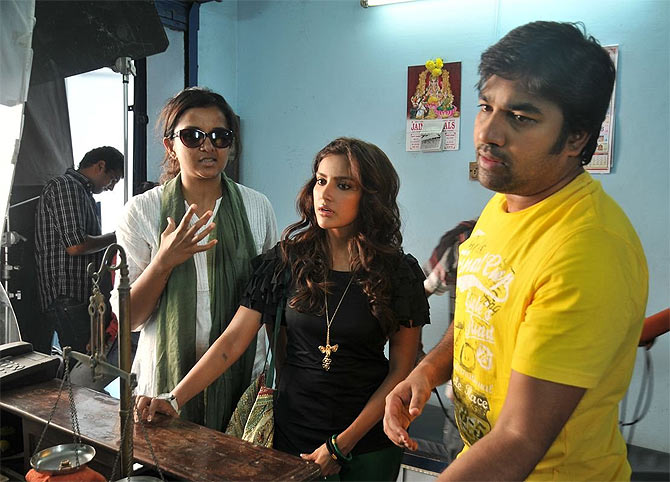 Kiruthiga Udhayanidhi with Priya Anand in Vanakkam Chennai