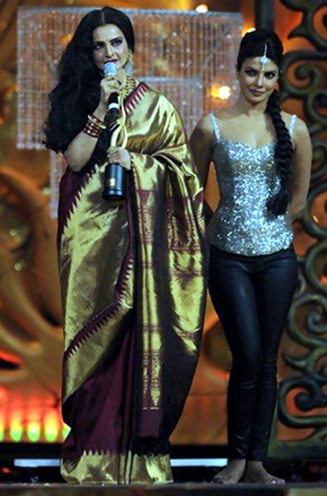 Rekha and Priyanka Chopra