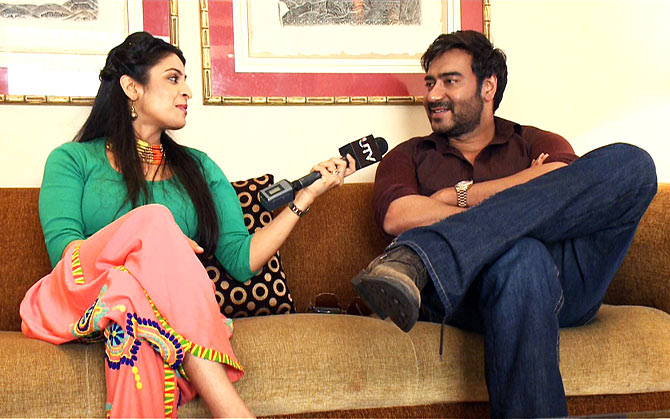 Host Garima with Ajay Devgn