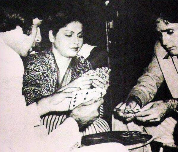 Amitabh Bachchan, Raakhee and Shashi Kapoor