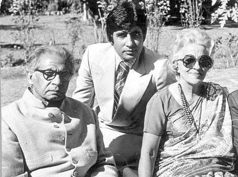 Harivanshrai Bachchan, Amitabh Bachchan and Teji Bachchan