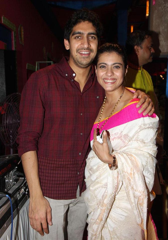 Ayan Mukherji and Kajol