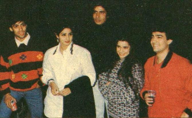 Salman Khan, Sridevi, Amitabh Bachchan, Neelam and Aamir Khan