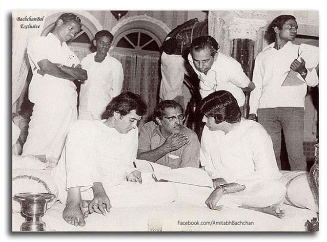 Rajesh Khanna, Hrishikesh Mukherjee and Amitabh Bachchan