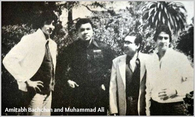 Amitabh Bachchan, Mohammed Ali, Prakesh Mehra and Ajitabh Bachchan