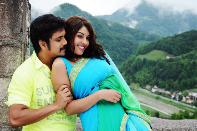 Nagarjuna and Richa Gangopadhyay in Bhai