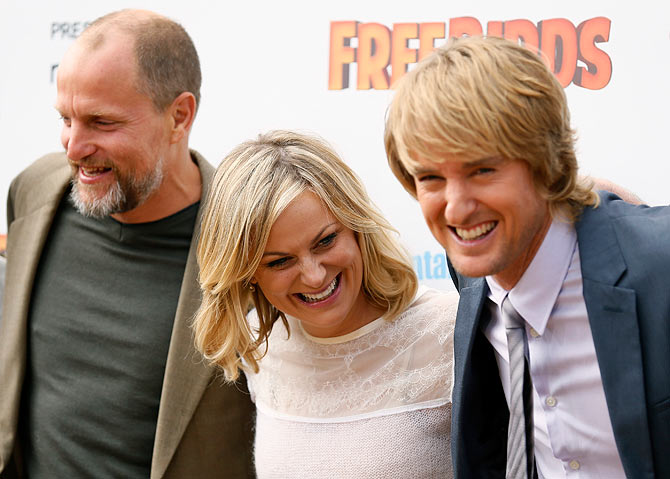 Woody Harrelson, Amy Poehler, and Owen Wilson