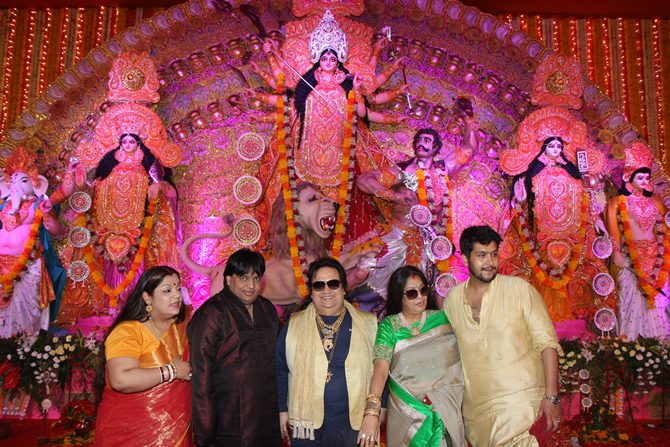 Rema, Govind Bansal, Bappi, Chitrani and Bappa Lahiri
