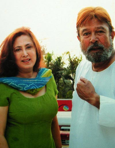 Anita Advani and Rajesh Khanna