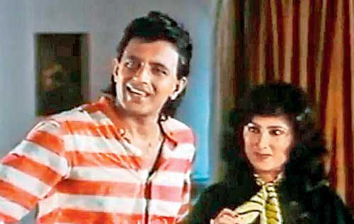 Mithun played Anita Advani's brother in Saazish