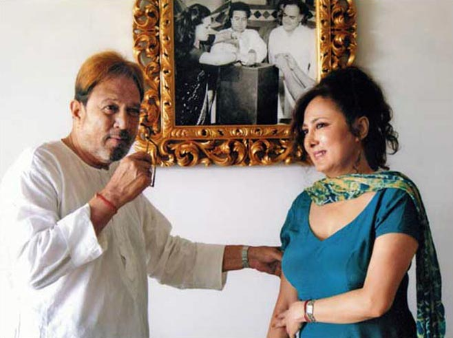 Rajesh Khanna and Anita Advani