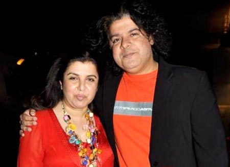 Farah and Sajid Khan