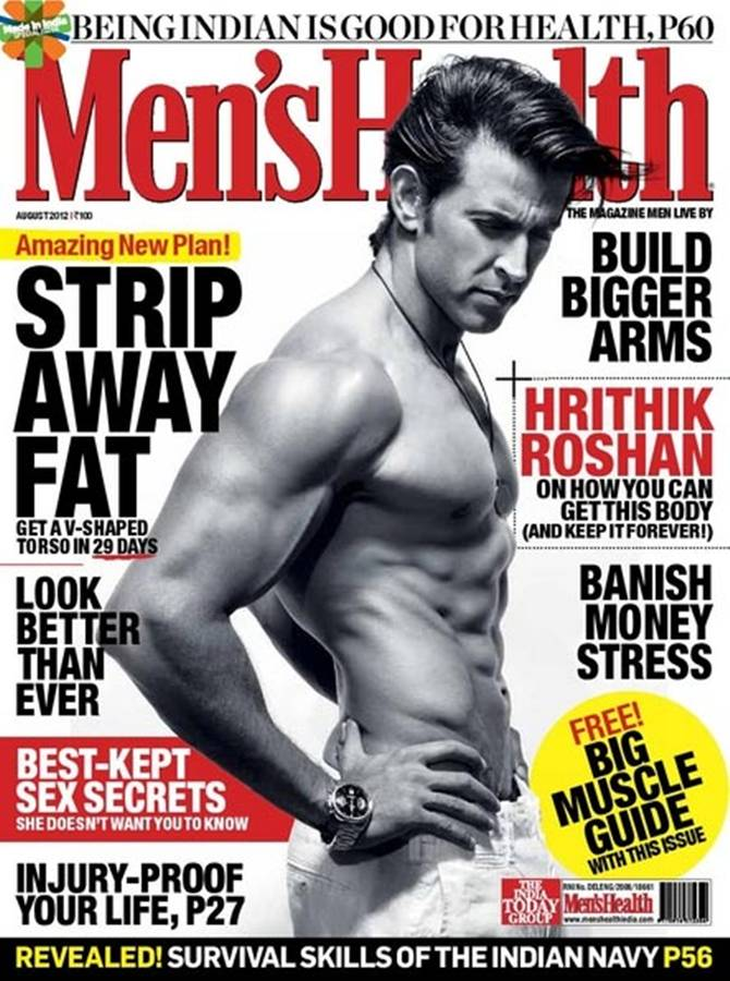 Hrithik Roshan on Men's Health cover