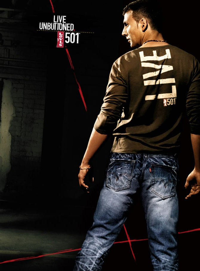 Akshay Kumar in a Levis ad
