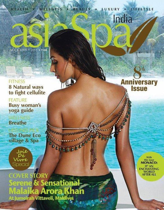 Malaika Arora Khan on Asia Spa cover