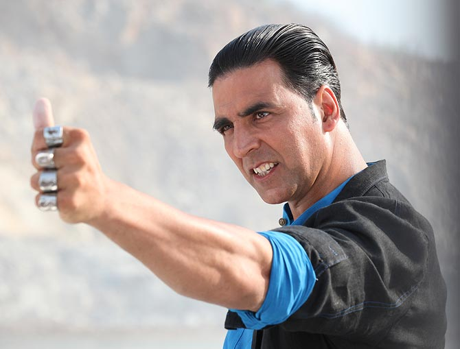 Akshay Kumar in, and as, Boss.