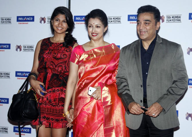 Kamal Haasan with Gouthami and Subbulakshmi