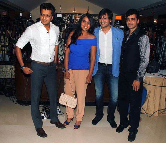 Riteish Deshmukh, Priyanka Alva, Vivek Oberoi and Indra Kumar