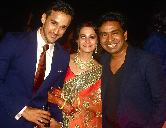 Rohit Reddy, Anita Hassanandani and Mushtaq Shiekh