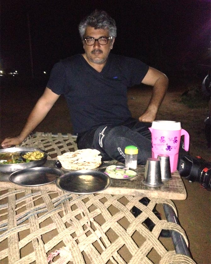 Ajith at a dhabba