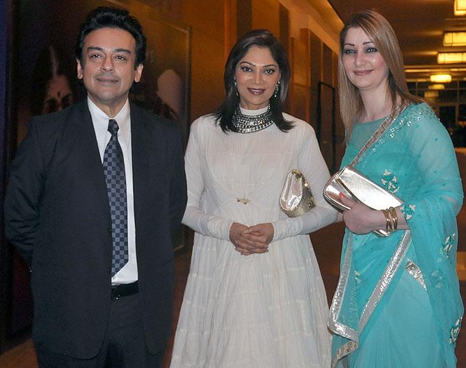 Adnan Sami, Simi Garewal and Roya Faryabi