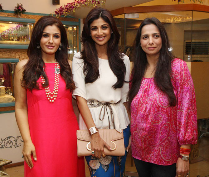 Raveena Tandon, Shilpa Shetty and Roopa Vohra