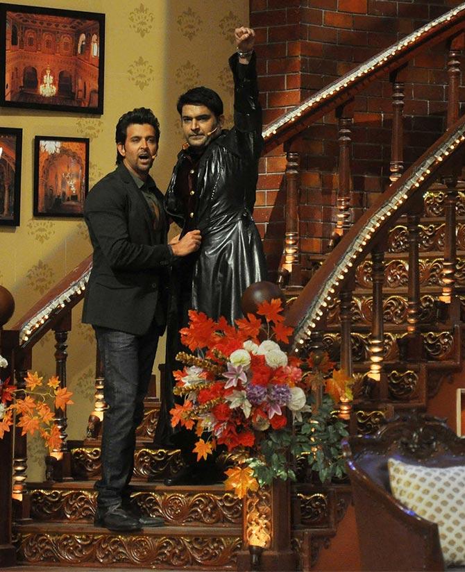 Hrithik Roshan with Kapil Sharma