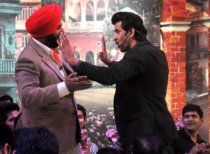 Navjot Singh Siddhu and Hrithik Roshan