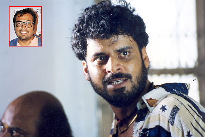 Manoj Bajpayee in Satya. Inset: Anurag Kashyap