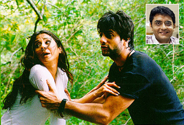 Urmila Matondakar and Fardeen Khan in Jungle. Inset: Jaideep Sahni