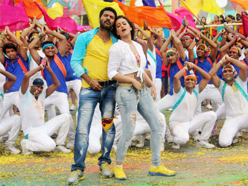 Sonakshi Sinha with Prabhu Deva in OMG! Oh My God