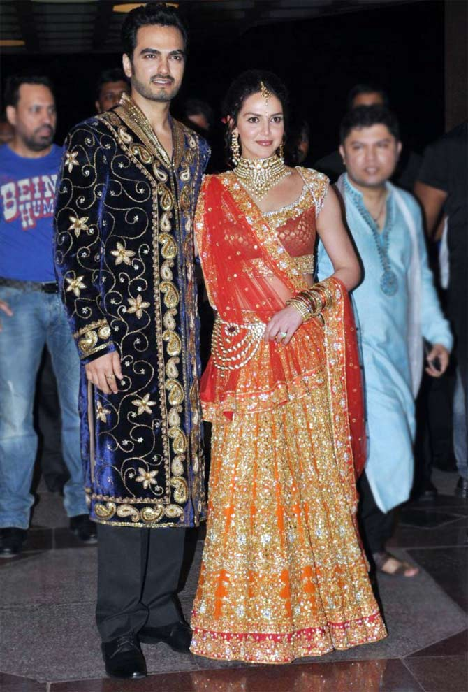 Bharat Takhtani and Esha Deol at their sangeet