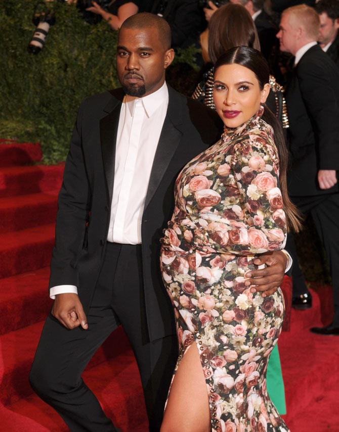 Kim Kardashian with rapper beau Kanye West