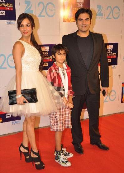 Malaika Arora Khan with son Arhaan and Arbaaz Khan