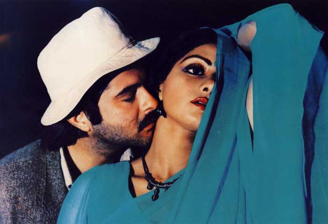 Sridevi and Anil Kapoor in Mr India