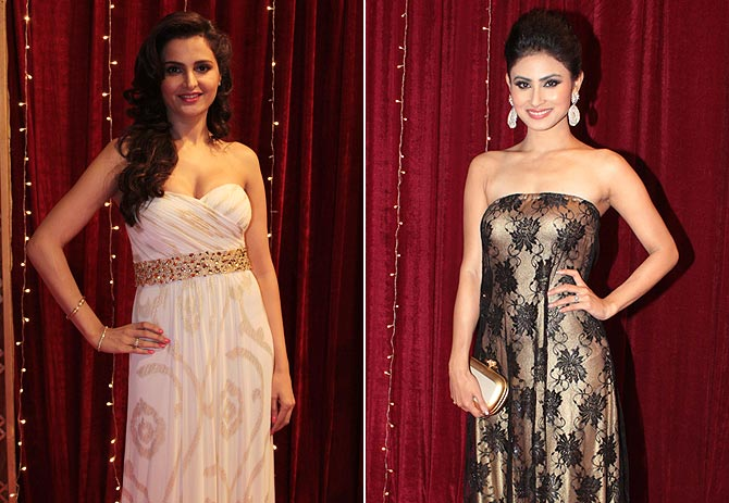 Monica Bedi and Mouni Roy