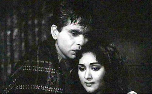 Dilip Kumar and Vyjayanthimala in Madhumati