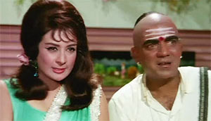 Saira Banu and Mehmood in Padosan