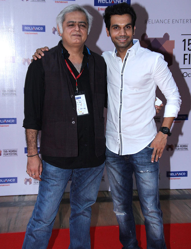 Hansal Mehta and Rajkumar