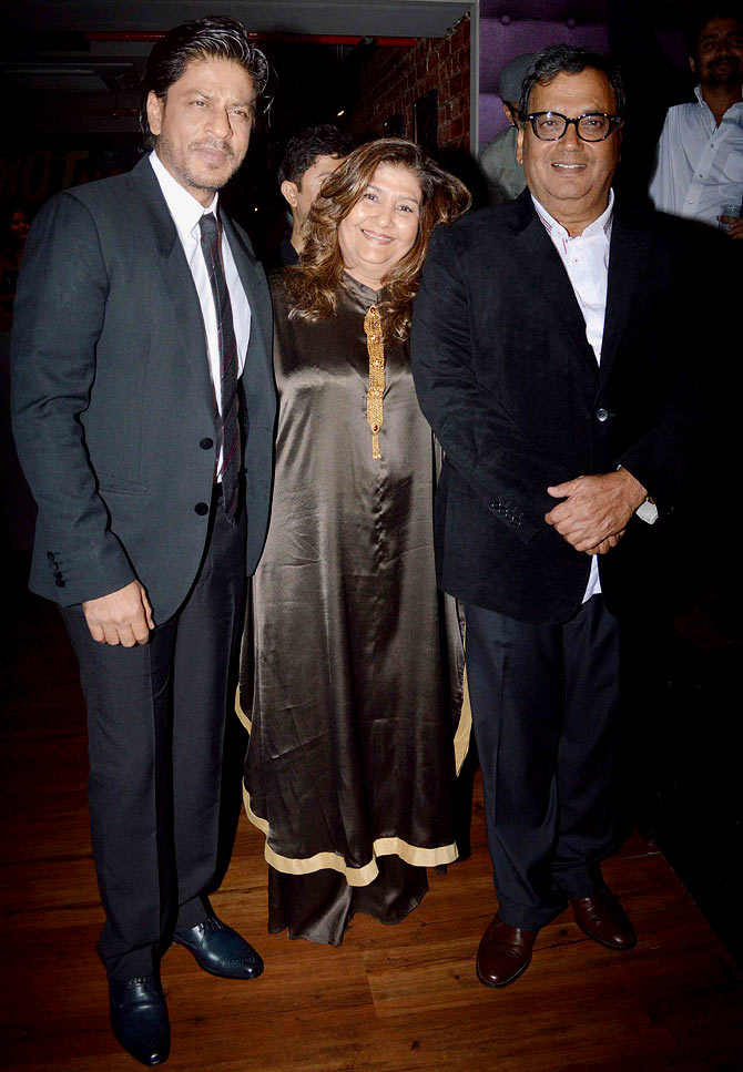 Shah Rukh Khan, Mukta and Subhash Ghai