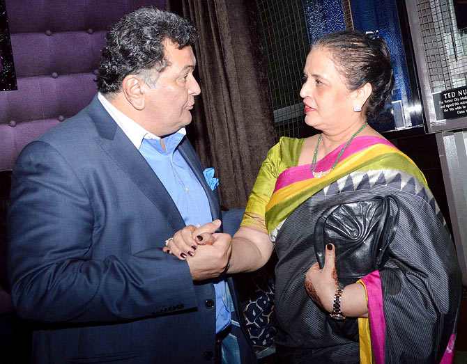 Rishi Kapoor and Vrinda Rai